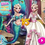 Elsa Mermaid Vs Princess