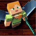 Minecraft Flying Warrior