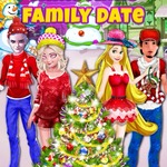 Princesses Christmas Family Date